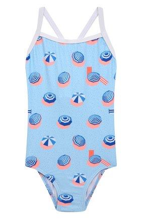 Детского слитный купальник SNAPPER ROCK голубого цвета, арт. G13206   Фото 1