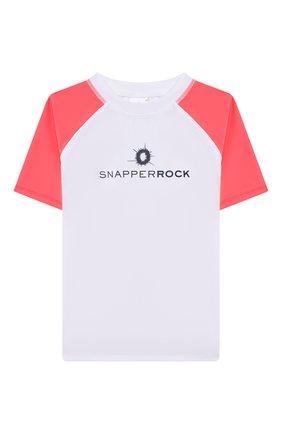 Детская пляжная футболка SNAPPER ROCK белого цвета, арт. B10117S   Фото 1