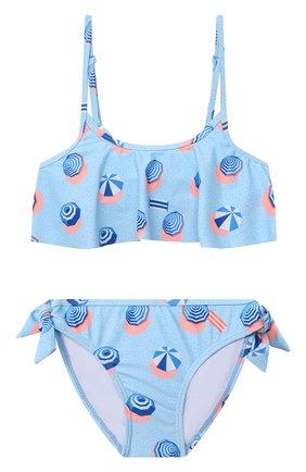 Детского раздельный купальник SNAPPER ROCK голубого цвета, арт. G15094   Фото 1