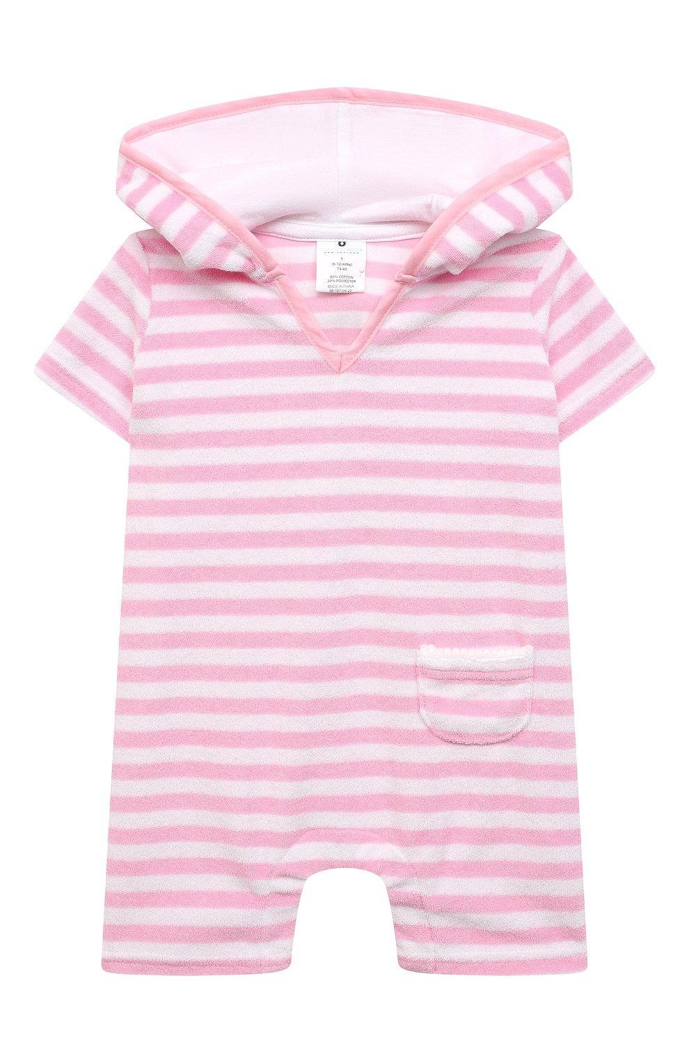 Детский хлопковый комбинезон SNAPPER ROCK розового цвета, арт. G19004 | Фото 1