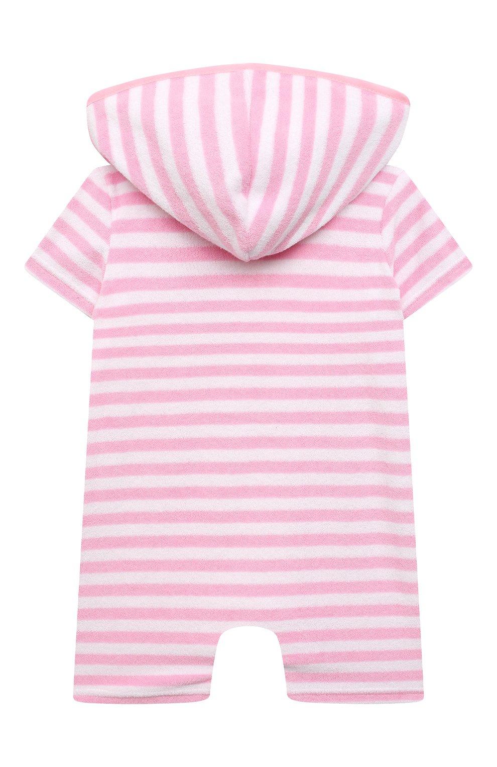 Детский хлопковый комбинезон SNAPPER ROCK розового цвета, арт. G19004 | Фото 2