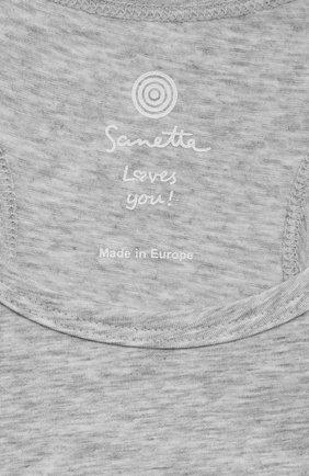 Детский бра-топ SANETTA серого цвета, арт. 346631. | Фото 3