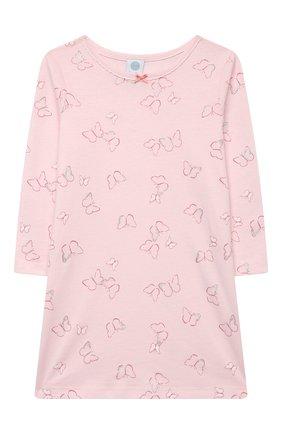 Детская хлопковая сорочка SANETTA светло-розового цвета, арт. 232605. | Фото 1