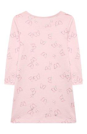 Детская хлопковая сорочка SANETTA светло-розового цвета, арт. 232605. | Фото 2