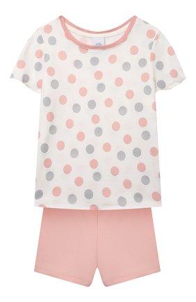 Детская хлопковая пижама SANETTA светло-розового цвета, арт. 232567. | Фото 1