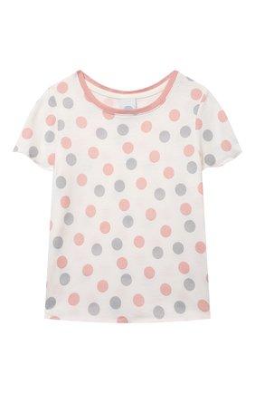Детская хлопковая пижама SANETTA светло-розового цвета, арт. 232567. | Фото 2