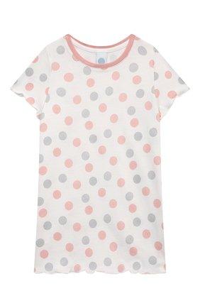 Детская хлопковая сорочка SANETTA светло-розового цвета, арт. 232569. | Фото 1