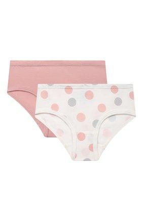 Детские комплект из двух трусов SANETTA светло-розового цвета, арт. 335131. | Фото 1
