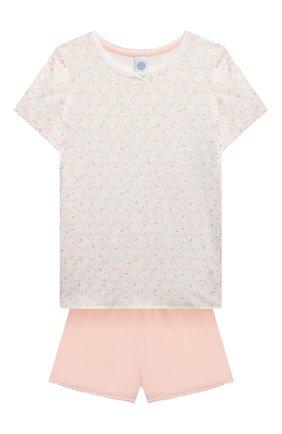 Детская пижама SANETTA светло-розового цвета, арт. 244949. | Фото 1