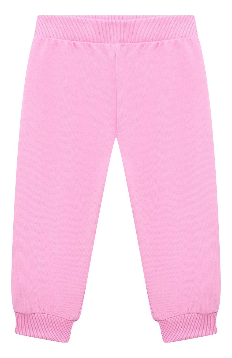 Детский комплект из худи и брюк VERSACE розового цвета, арт. 1000177/1A00154 | Фото 4