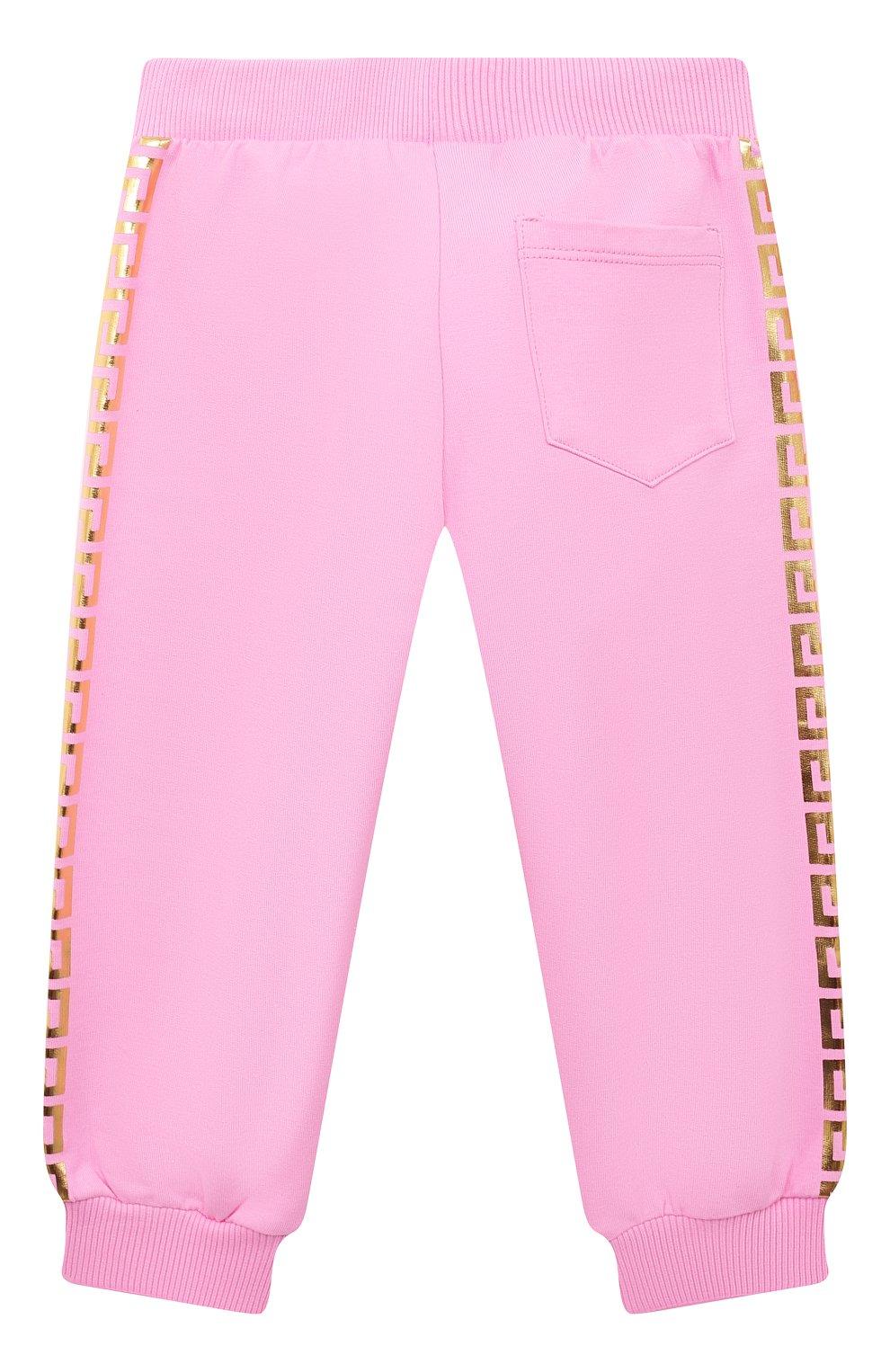 Детский комплект из худи и брюк VERSACE розового цвета, арт. 1000177/1A00154 | Фото 5