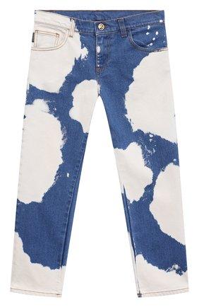 Детские джинсы VERSACE синего цвета, арт. 1000136/1A00317/8A-14A | Фото 1