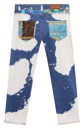 Детские джинсы VERSACE синего цвета, арт. 1000136/1A00317/8A-14A | Фото 2