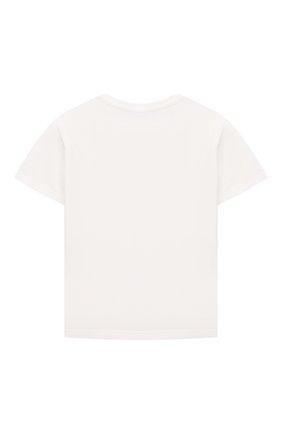 Детский хлопковая футболка VERSACE белого цвета, арт. 1000102/1A00268 | Фото 2