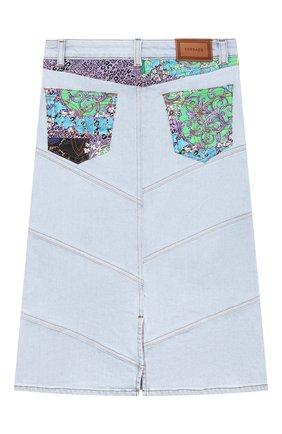 Детская джинсовая юбка VERSACE голубого цвета, арт. 1000032/1A00340/8A-14A | Фото 2