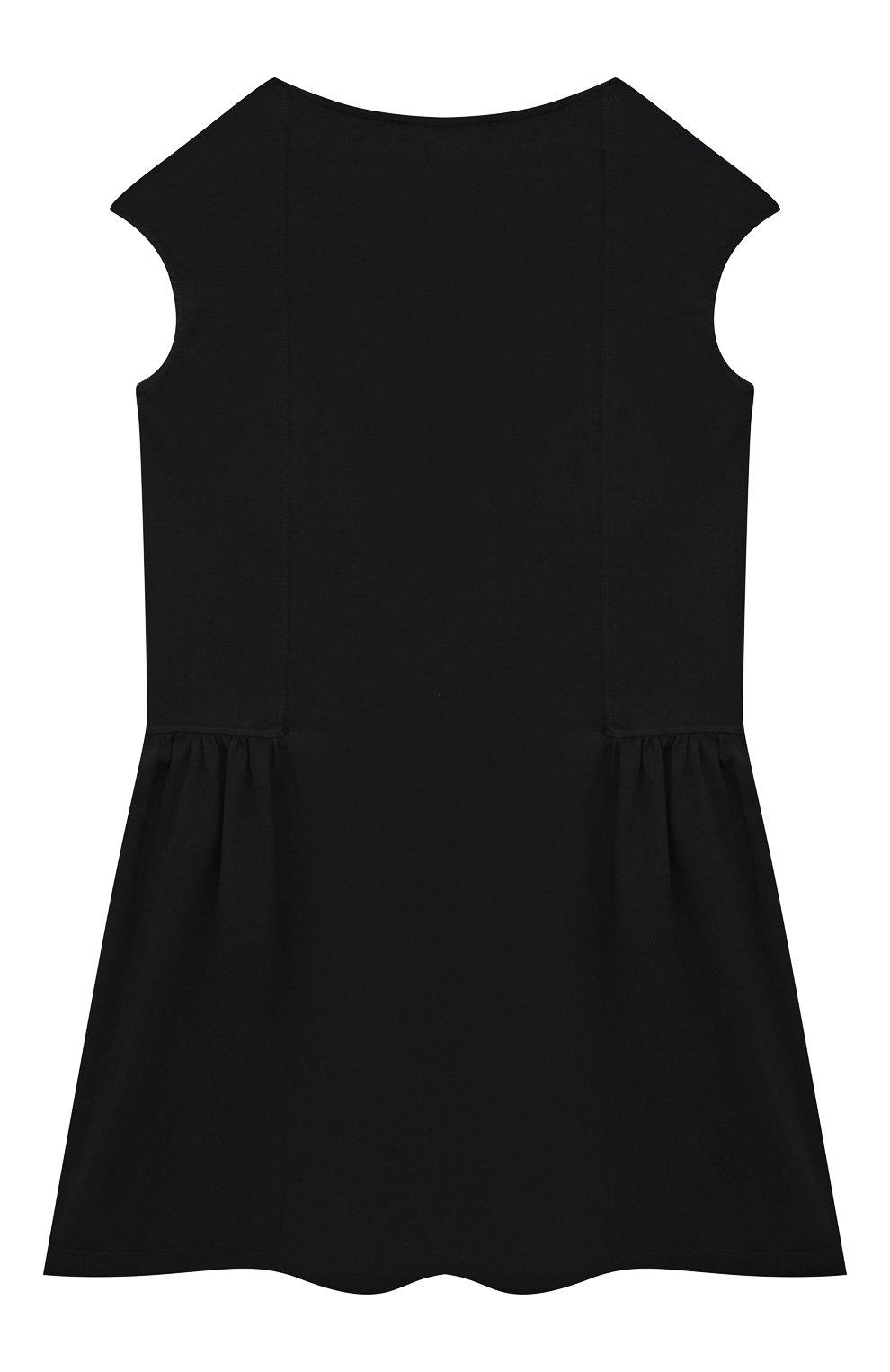 Детское хлопковое платье VERSACE черного цвета, арт. 1000021/1A00014/8A-14A   Фото 2