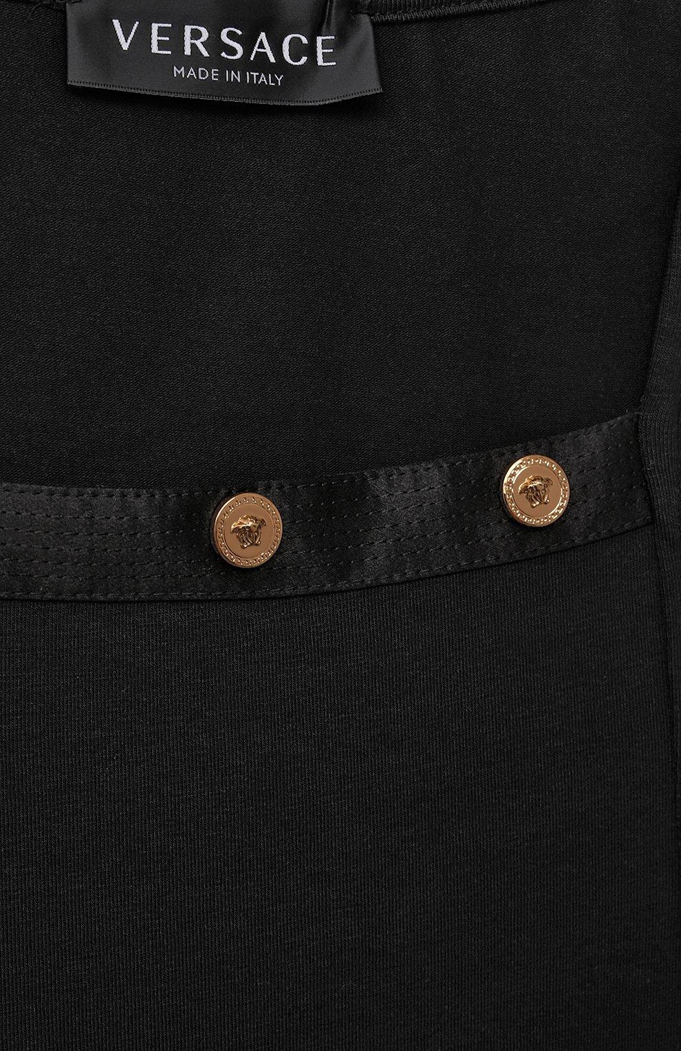 Детское хлопковое платье VERSACE черного цвета, арт. 1000021/1A00014/8A-14A   Фото 3