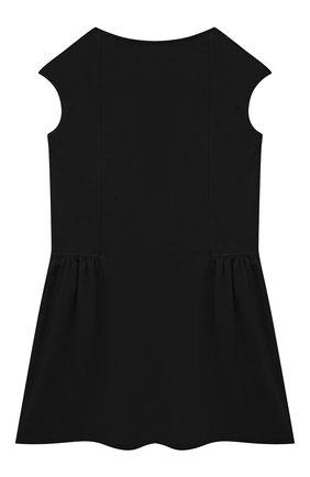 Детское хлопковое платье VERSACE черного цвета, арт. 1000021/1A00014/4A-6A | Фото 2