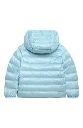 Детского пуховая куртка MOSCHINO голубого цвета, арт. MUS01V/L3A32 | Фото 2