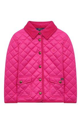Детского стеганая куртка POLO RALPH LAUREN розового цвета, арт. 311833153 | Фото 1
