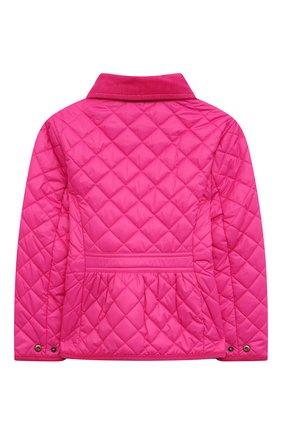 Детского стеганая куртка POLO RALPH LAUREN розового цвета, арт. 311833153 | Фото 2