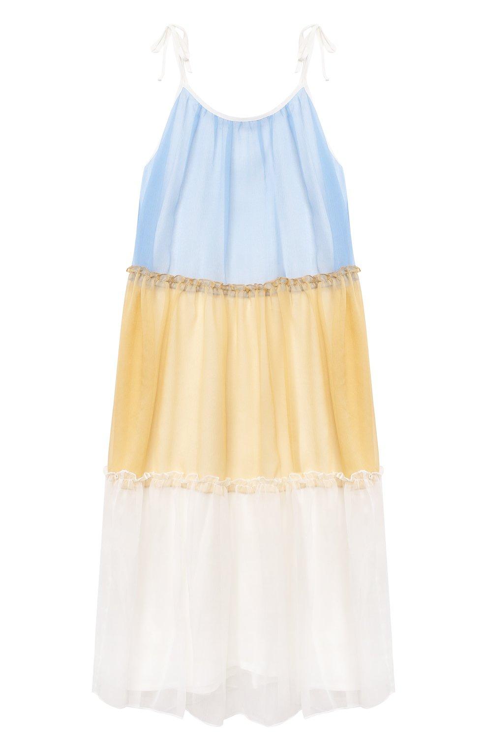 Детское шелковый сарафан PAADE MODE разноцветного цвета, арт. 21210361/4Y-8Y | Фото 1