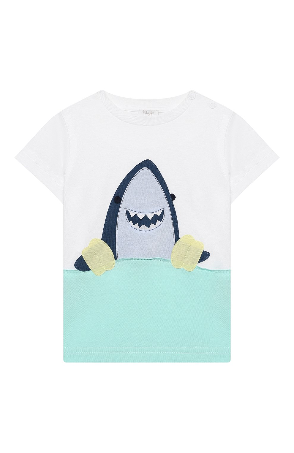 Детский комплект из футболки и шорт IL GUFO белого цвета, арт. P21DP350M0014/3M-9M | Фото 2