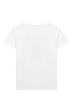 Детский комплект из футболки и шорт IL GUFO белого цвета, арт. P21DP350M0014/3M-9M | Фото 3