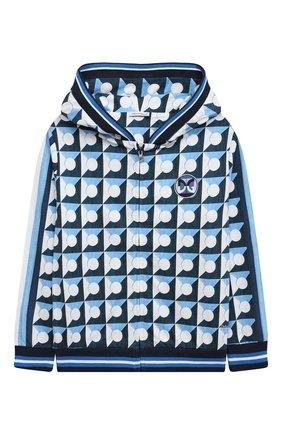 Детский хлопковая толстовка DOLCE & GABBANA голубого цвета, арт. L4JW8I/G7WRR/8-14 | Фото 1