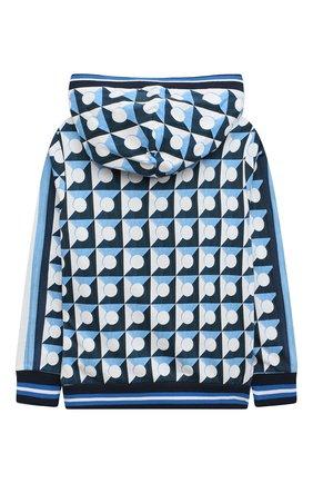 Детский хлопковая толстовка DOLCE & GABBANA голубого цвета, арт. L4JW8I/G7WRR/2-6 | Фото 2