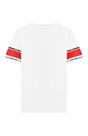 Детская хлопковая футболка DOLCE & GABBANA белого цвета, арт. L4JTAU/G7WUI/8-14 | Фото 2