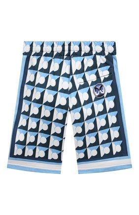 Детские хлопковые шорты DOLCE & GABBANA голубого цвета, арт. L4JQH0/G7WRR/8-14   Фото 2