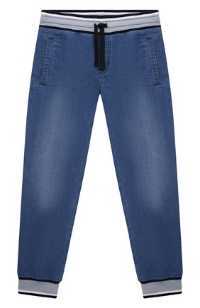 Детские джинсовые джоггеры DOLCE & GABBANA голубого цвета, арт. L4JPT0/G7YDZ/2-6 | Фото 1