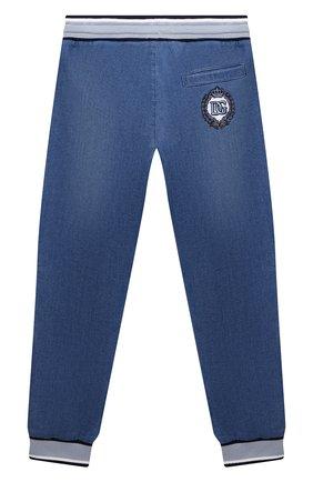 Детские джинсовые джоггеры DOLCE & GABBANA голубого цвета, арт. L4JPT0/G7YDZ/2-6 | Фото 2