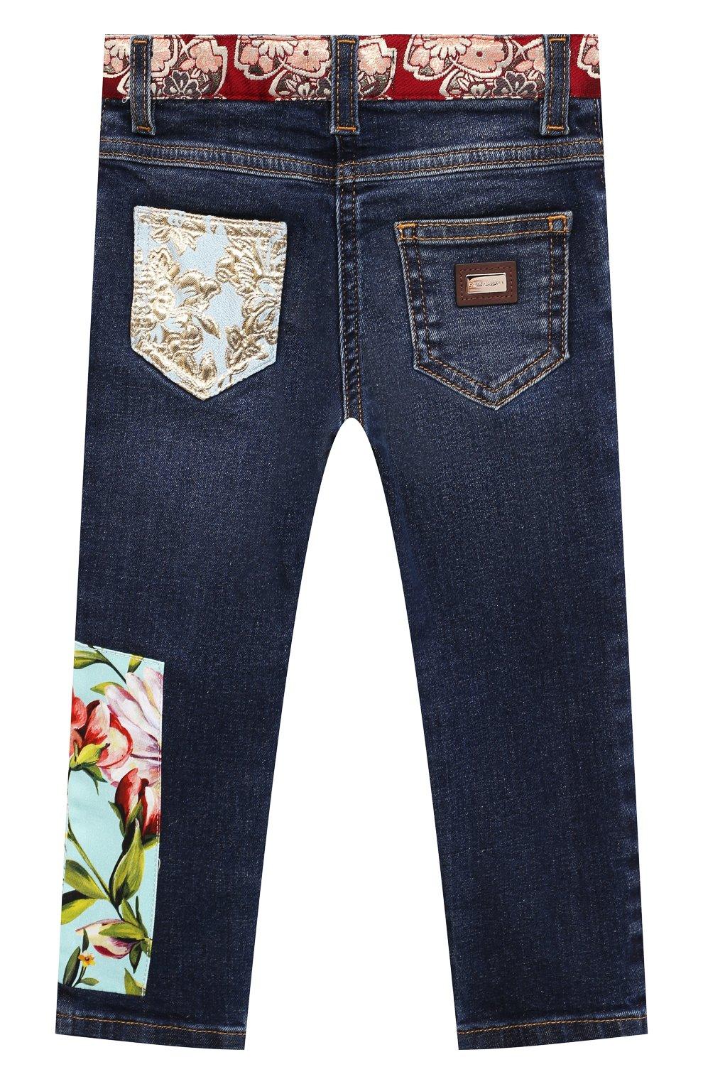 Детские джинсы DOLCE & GABBANA разноцветного цвета, арт. L22F22/G7YPT | Фото 2