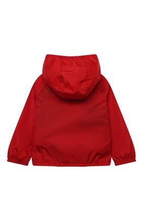 Детского ветровка с капюшоном GUCCI красного цвета, арт. 638052/XWAMC   Фото 2
