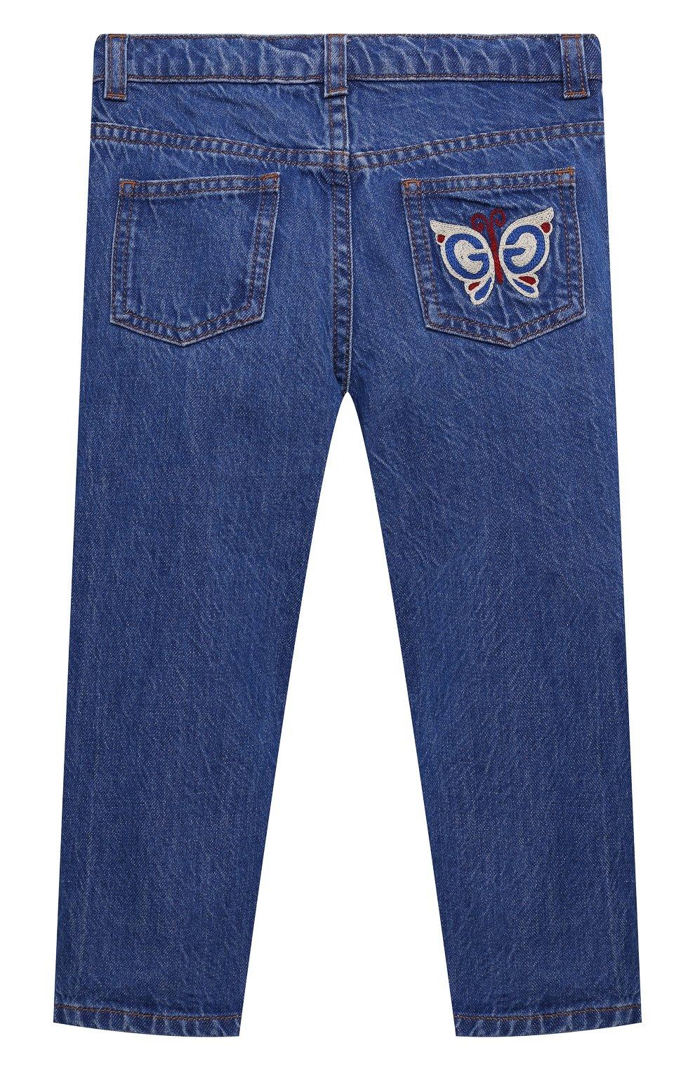 Детские джинсы GUCCI голубого цвета, арт. 650097/XDBKV | Фото 2