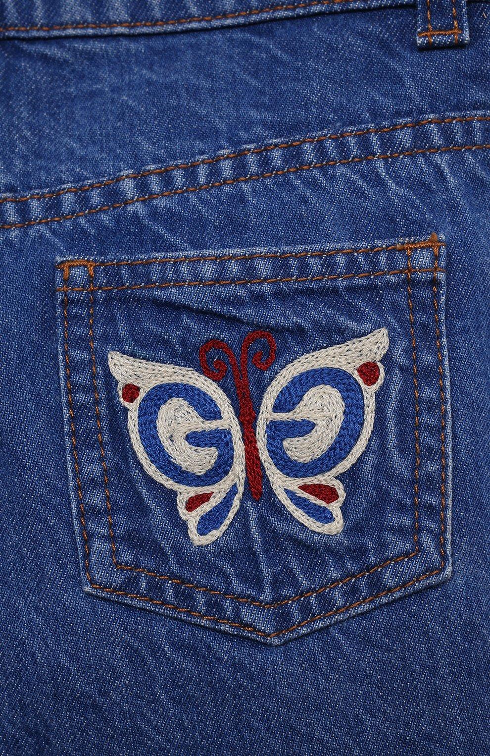 Детские джинсы GUCCI голубого цвета, арт. 650097/XDBKV | Фото 3