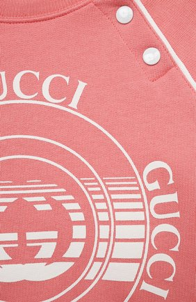 Детский хлопковый свитшот GUCCI розового цвета, арт. 647900/XJC7E | Фото 3