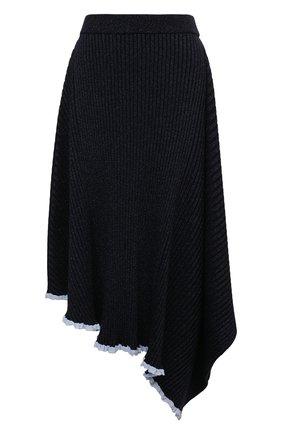 Женская юбка из вискозы JW ANDERSON темно-синего цвета, арт. KS0003 YN0070 | Фото 1