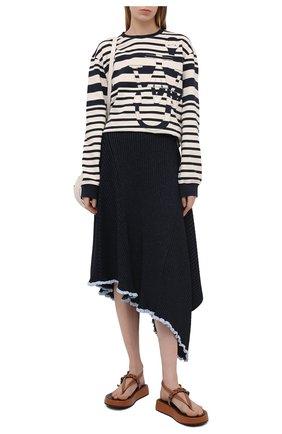 Женская юбка из вискозы JW ANDERSON темно-синего цвета, арт. KS0003 YN0070 | Фото 2
