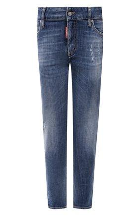 Женские джинсы DSQUARED2 темно-синего цвета, арт. S75LB0475/S30342 | Фото 1