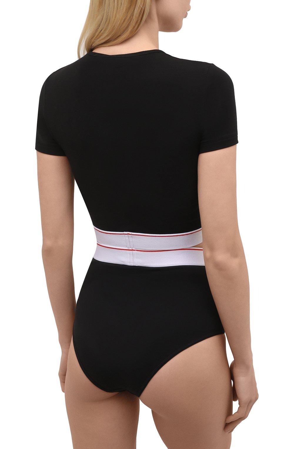 Женские трусы-шорты DSQUARED2 черного цвета, арт. D8L283470 | Фото 3