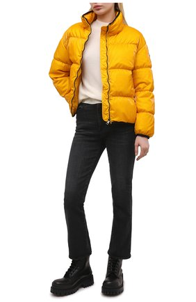 Женская пуховая куртка grenit MONCLER желтого цвета, арт. G1-093-1A52S-60-54AQ4 | Фото 2