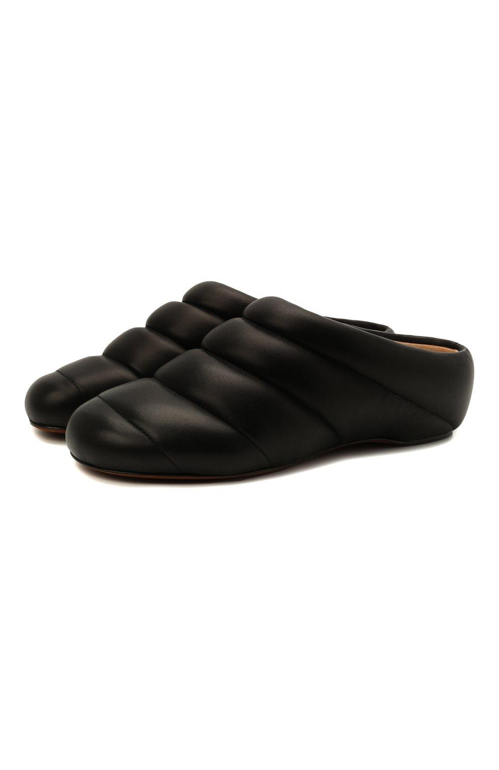 Женские кожаные сабо PROENZA SCHOULER черного цвета, арт. PS36114A/13001 | Фото 1 (Материал внешний: Кожа; Каблук высота: Низкий; Материал внутренний: Натуральная кожа; Подошва: Плоская)