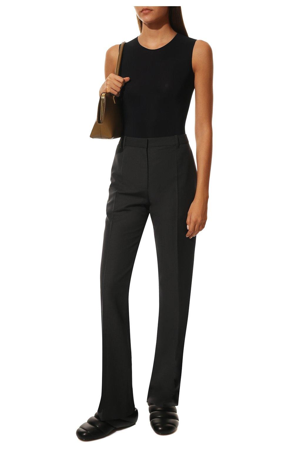 Женские кожаные сабо PROENZA SCHOULER черного цвета, арт. PS36114A/13001 | Фото 2 (Материал внешний: Кожа; Каблук высота: Низкий; Материал внутренний: Натуральная кожа; Подошва: Плоская)