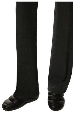 Женские кожаные сабо PROENZA SCHOULER черного цвета, арт. PS36114A/13001 | Фото 3 (Материал внешний: Кожа; Каблук высота: Низкий; Материал внутренний: Натуральная кожа; Подошва: Плоская)