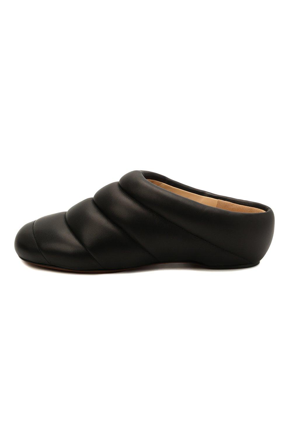 Женские кожаные сабо PROENZA SCHOULER черного цвета, арт. PS36114A/13001 | Фото 4 (Материал внешний: Кожа; Каблук высота: Низкий; Материал внутренний: Натуральная кожа; Подошва: Плоская)