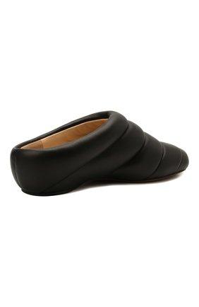 Женские кожаные сабо PROENZA SCHOULER черного цвета, арт. PS36114A/13001 | Фото 5 (Материал внешний: Кожа; Каблук высота: Низкий; Материал внутренний: Натуральная кожа; Подошва: Плоская)