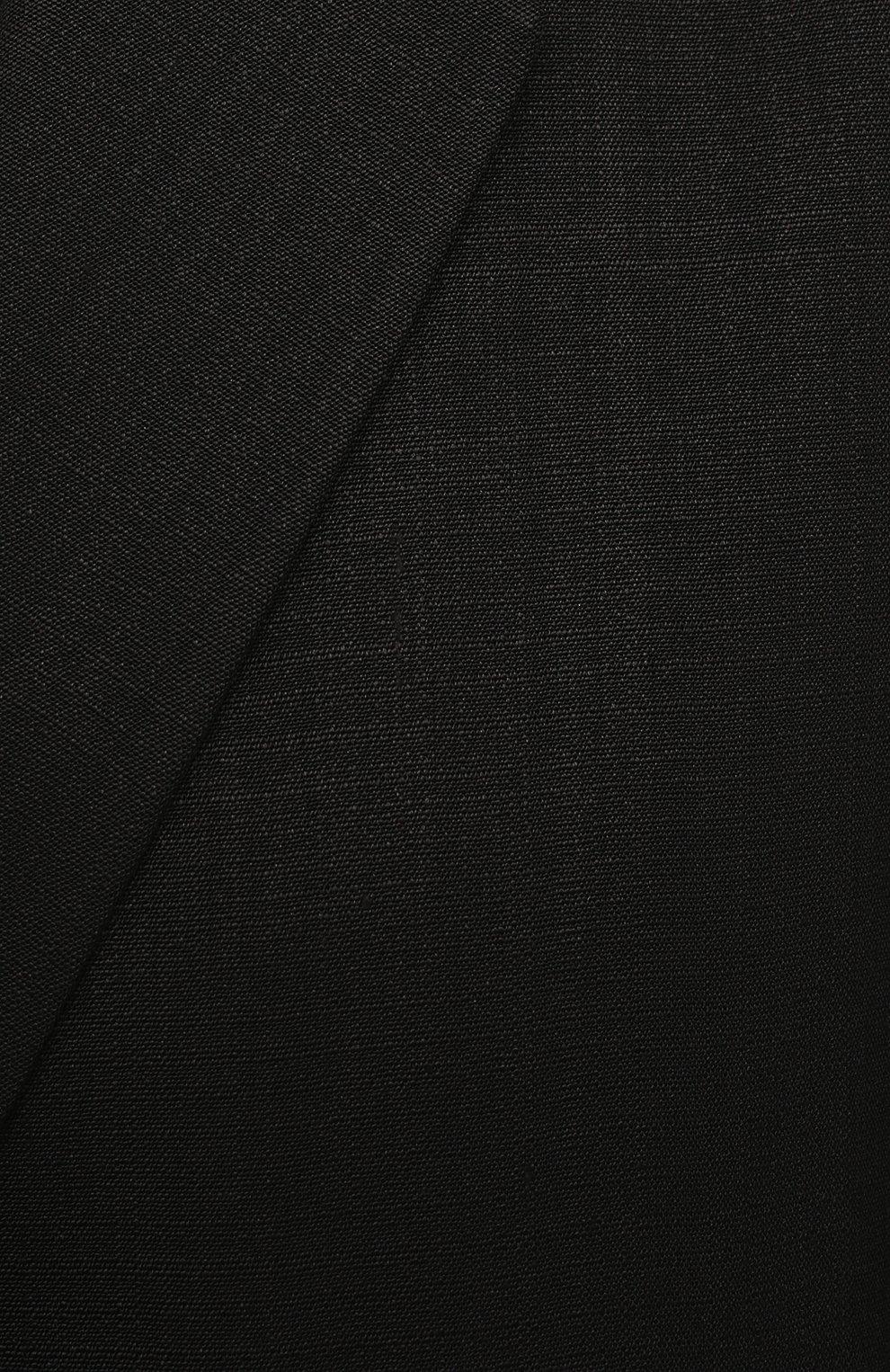 Женский жакет из шелка и вискозы JIL SANDER черного цвета, арт. JSPS130010-WS390300   Фото 5